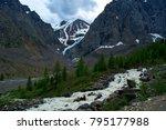 mountain river stream landscape ... | Shutterstock . vector #795177988