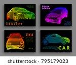 art image of a auto. vector car ... | Shutterstock .eps vector #795179023