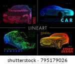 art image of a auto. vector car ... | Shutterstock .eps vector #795179026