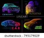 art image of a auto. vector car ... | Shutterstock .eps vector #795179029