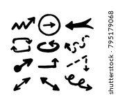 marker drawn arrows. set of...   Shutterstock .eps vector #795179068