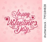 happy valentines day banner...   Shutterstock .eps vector #795184828