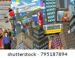 city  an illustration of a... | Shutterstock . vector #795187894
