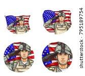 set of vector pop art round...