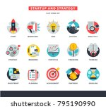 startup business icons vector... | Shutterstock .eps vector #795190990