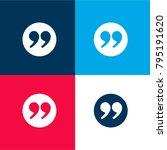 quotation mark four color...