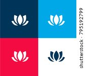 lotus four color material and... | Shutterstock .eps vector #795192799