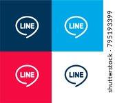 line logo four color material...