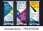 color roll up design  vertical... | Shutterstock .eps vector #795193558