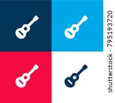 inclined guitar four color...