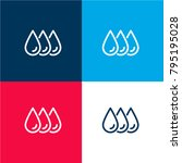 ink drops four color material...