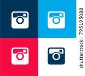 instagram big logo four color...