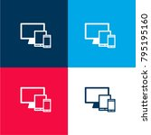 multiple devices four color... | Shutterstock .eps vector #795195160
