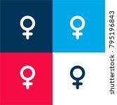 female gender sign four color...