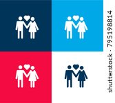 couple in love four color... | Shutterstock .eps vector #795198814