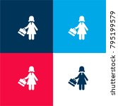 woman with briefcase four color ...