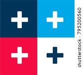 hospital symbol four color...