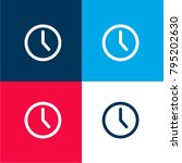 wall clock four color material...