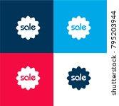 sale sticker four color...
