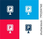 parking sign four color...