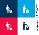 use bin sign four color...