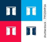 double door opened four color...