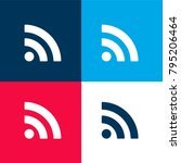 subscribe rss button four color ...