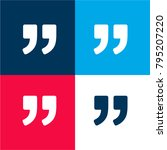 right quote sign four color...