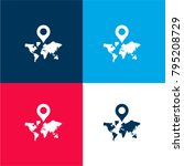 world map with a placeholder... | Shutterstock .eps vector #795208729