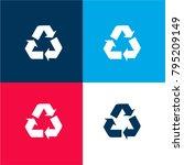 recycle symbol of three arrows...