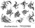 set of tribal art | Shutterstock .eps vector #79520980