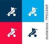 baby stroller four color...   Shutterstock .eps vector #795213469