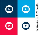 youtube symbol four color...