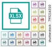 xlsx file format flat color...