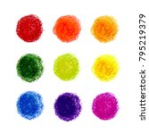 vector colorful set with crayon ... | Shutterstock .eps vector #795219379