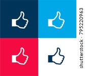thumb up sign four color... | Shutterstock .eps vector #795220963