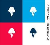 ice cream four color material...