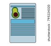 avocado information document...   Shutterstock .eps vector #795224320