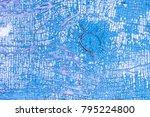 peeling paint on the old door.... | Shutterstock . vector #795224800