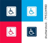 handicapped sign four color...   Shutterstock .eps vector #795224980