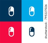 medical pill four color...   Shutterstock .eps vector #795227026