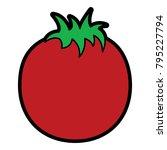 tomato vegetable nutrition food ...   Shutterstock .eps vector #795227794