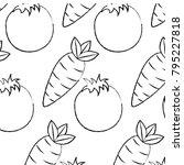 tomato and carrot vegetables...   Shutterstock .eps vector #795227818