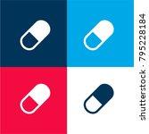 pill capsule four color... | Shutterstock .eps vector #795228184