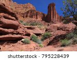 deep rocky canyons of... | Shutterstock . vector #795228439