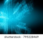 best internet concept of global ... | Shutterstock . vector #795228469