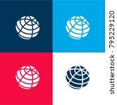 earth grid symbol four color...