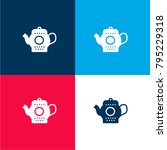 tea pot four color material and ...