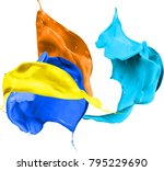 colored splashes in abstract... | Shutterstock . vector #795229690