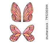 butterfly wings vector... | Shutterstock .eps vector #795230344